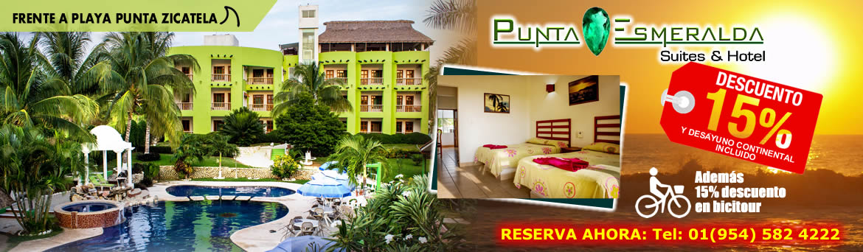 Suites y Hotel Punta Esmeralda (15% descuento y desayuno continental incluído)